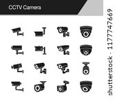 cctv camera icons. design for...