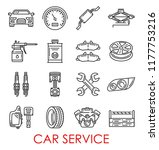 car service thin line art icons ... | Shutterstock .eps vector #1177753216