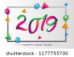 2019 modern and colorful... | Shutterstock .eps vector #1177755730