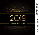 happy new year 2019 with... | Shutterstock .eps vector #1177755856