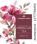 tea sticker. herbal tea.... | Shutterstock . vector #1177756453