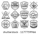 fishing retro sketch icons for... | Shutterstock .eps vector #1177759966