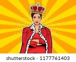 business queen. businesswoman...   Shutterstock .eps vector #1177761403