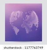 abstract globe world map vector ...   Shutterstock .eps vector #1177763749