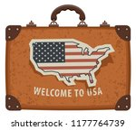 travel vector banner with a... | Shutterstock .eps vector #1177764739