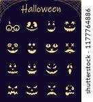 vector set of halloween... | Shutterstock .eps vector #1177764886