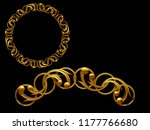 golden ornamental segment  ... | Shutterstock . vector #1177766680