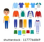 boy with clothes. vector... | Shutterstock .eps vector #1177766869