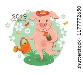 2019 new year greeting card... | Shutterstock .eps vector #1177772650