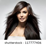 fashion model with long... | Shutterstock . vector #117777406