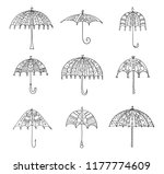 set of hand drawn and painted... | Shutterstock .eps vector #1177774609