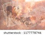 rusty metal texture  rusty...   Shutterstock . vector #1177778746