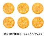 Small photo of round cracker path isolated