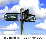 three way countryside footpath... | Shutterstock . vector #1177784980