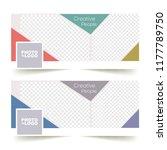 social media banner or cover... | Shutterstock .eps vector #1177789750