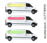 color lines printed in a van... | Shutterstock .eps vector #117778993