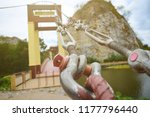 sling the bridge is strong and... | Shutterstock . vector #1177796440