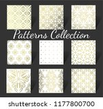 set of golden ornamental... | Shutterstock .eps vector #1177800700