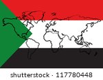 the flag of sudan with the...   Shutterstock .eps vector #117780448