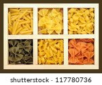 some kinds of pasta and... | Shutterstock . vector #117780736