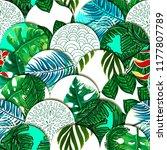 tiled seamless pattern of... | Shutterstock .eps vector #1177807789
