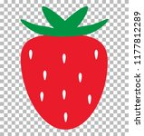 strawberry on transparent... | Shutterstock .eps vector #1177812289