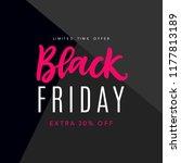 black friday sale web banner... | Shutterstock .eps vector #1177813189