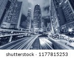 traffic in central district of... | Shutterstock . vector #1177815253