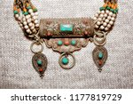 jewelry necklace made of... | Shutterstock . vector #1177819729