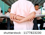 photo of thai students are arm... | Shutterstock . vector #1177823230