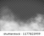 white smoke on a transparent... | Shutterstock .eps vector #1177823959