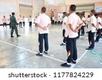 photo of thai students are arm... | Shutterstock . vector #1177824229
