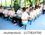 photo of thai students are arm... | Shutterstock . vector #1177824700
