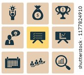 job icons set with team success ... | Shutterstock .eps vector #1177824910