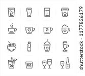 drink icons and beverages icons ... | Shutterstock .eps vector #1177826179