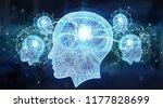 artificial intelligence digital ...   Shutterstock . vector #1177828699