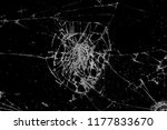texture of broken glass on black | Shutterstock . vector #1177833670