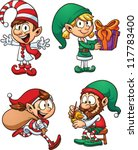 cartoon christmas elf... | Shutterstock .eps vector #117783400