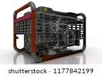 gasoline current generator... | Shutterstock . vector #1177842199