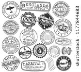 london england stamp vector art ... | Shutterstock .eps vector #1177844683