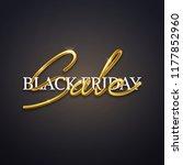 black friday sale advertisement ... | Shutterstock .eps vector #1177852960