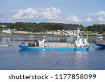 the blue barge at la trinit ... | Shutterstock . vector #1177858099