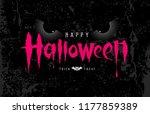 happy halloween pink message... | Shutterstock .eps vector #1177859389