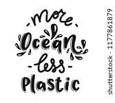 more ocean less plastic....   Shutterstock .eps vector #1177861879