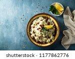 cauliflower couscous with... | Shutterstock . vector #1177862776