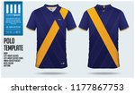 blue and yellow polo t shirt... | Shutterstock .eps vector #1177867753
