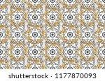 vintage ornamental pattern on a ... | Shutterstock . vector #1177870093