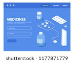 landing page for doctor and... | Shutterstock .eps vector #1177871779
