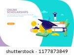 online scholarships concept...