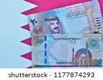 bahrain twenty dinar banknotes...   Shutterstock . vector #1177874293